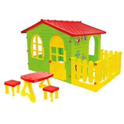 Lauko namelis su terasa su staliuku ir 2 kėdutėm