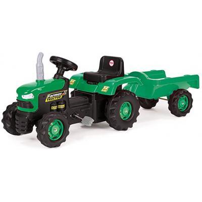 Dolu minamas traktoriukas su priekaba Green
