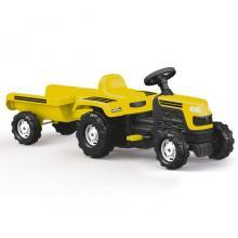Dolu minamas traktoriukas su priekaba