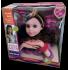 Lėlės galva šukuosenoms su aksesuarais Purple