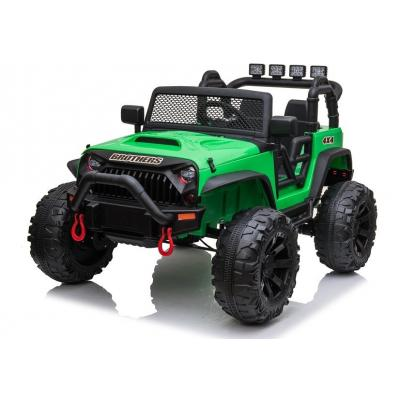 24 voltų vaikiškas elektromobilis džipas Jeep Green