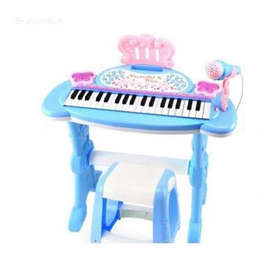 Vaikiškas Pianinas Su Kėdute mėlynas